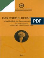 (Münsteraner Judaistische Studien 3) Karl-Gottfried Eckart_ F. Siegert (ed.)-Das Corpus Hermeticum einschließlich der Fragmente des Stobaeus-Lit Verlag (1999)