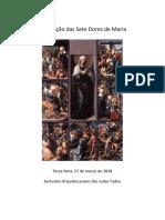 Meditação das Sete Dores de Maria - Cerimonial