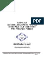 Capitulo VI, Asme B31.3 - 2016, En Español