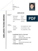 Curriculum Vitae Abelardo Ticona