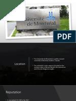 University of Montreal Final