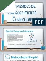 CATÁLOGO Actividades Enriquecimiento Curricular 2018.2019
