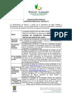 Licitacion Publica No SAP-002-12