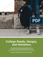 College Ready, Hungry, and Homeless