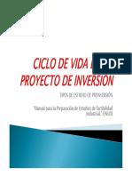 Ciclo de Vida Proyectos de Inversion Onudi