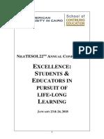 Program Book NileTESOL 2018 Final Jan-3