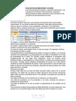 Base de Datos de Microsoft Access