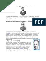 Presidentes de Guate de 1885-2016