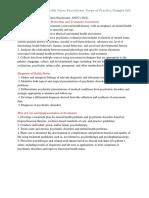 pmhnp scope and sample job description