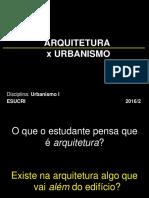 arquitetura x urbanismo