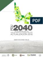 PDU2040 2016 Quinta Actualizacion