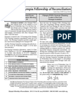 June-July 2009 Olympia Fellowship of Reconciliation Newsletter