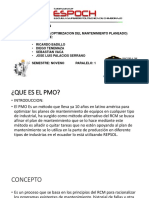 PMO (Optimizacion de Plan de Mantenimiento)