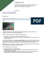 Desastres Naturales Que Afectan a Guatemala en El 2013