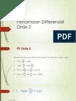 Persamaan Differensial Orde 2