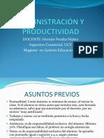 Administración y Productividad Unidad i