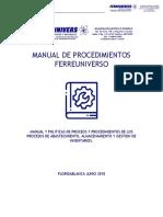 Manual y Protocolos de Procedimiento