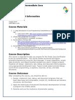 Schmeelk Intermediate Java Syllabus Spring 2017