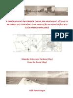 A Geografia Do RS Em Meados Do Século XX - Retratos Do Território e Da Produção Da AGB