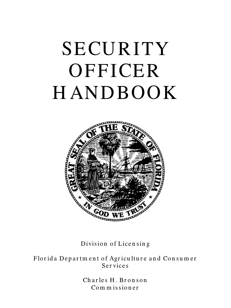 Security Officer Handbook | Security Guard | Permanent Residence (United  States)