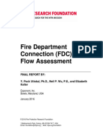 Rf Fire Department Connection in Let Flow Assessment
