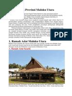 Kebudayaan Provinsi Maluku Utara