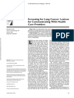 Screening for Lung Cancer