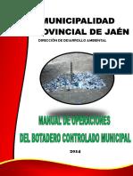 Manual de Operaciones Botadero - Municipal Jaen