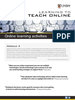 Online Learning Activities