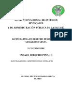 Ensayo Derecho Penal II
