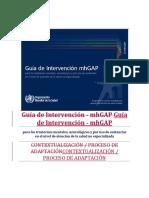 Guía de Planificación Del Curso Básico MhGAP