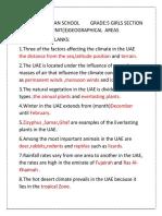 Usst Notes Grade 5 Unit 3
