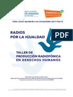 Guia Metodologica Radios Por La Igualdad