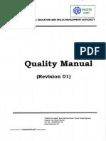 TESDA QualityManualRev 01