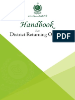 Handbook for Dist. Returning Officers (DRO)