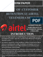 customer retention at AIRTEL