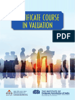 ICSI Certificate Course in Valuation Revised