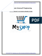 CSE-IT PHP MYSQL Project on Online Apparel Store - PDF Report With Source Code Free Download