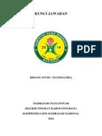 22 Solusi-matematika Mts Kompetisi Sains Madrasah Nasional_ksm Kab 2014