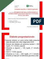 Programmazione della gravidanza in donne diabetiche in età fertile