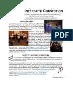 September 2008 Interfaith Connection Newsletter, Interfaith Works