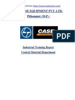 L&T Case Equipment - Mechanical Engg. (ME) Summer Industrial Training Project Report