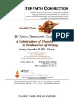 December 2009 Interfaith Connection Newsletter, Interfaith Works