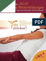 Aus- und Weiterbildung 2018 Yoga Vidya