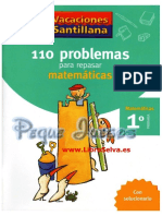 Vacaciones Santillana - Matemáticas 1º Primaria