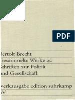 Bertolt Brecht Gesammelte Werke Vol20 Banden Werkausgabe Edition Suhrkamp 1967