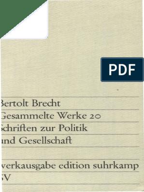 Bertolt Brecht Gesammelte Werke Vol20 Banden Werkausgabe