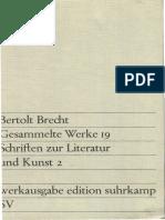 Bertolt Brecht Gesammelte Werke Vol19 Banden Werkausgabe Edition Suhrkamp 1967