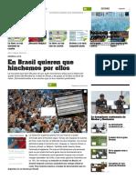 En Brasil Quieren Que Hinchemos Por Ellos - 02-07-2018 - Olé
