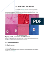 Dyeing Defects and Their Remedies